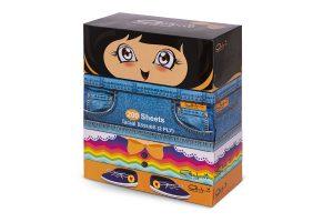 پک دستمال کاغذی 500 برگ دو لایه عروسک (بسته بندی 4 عددی)